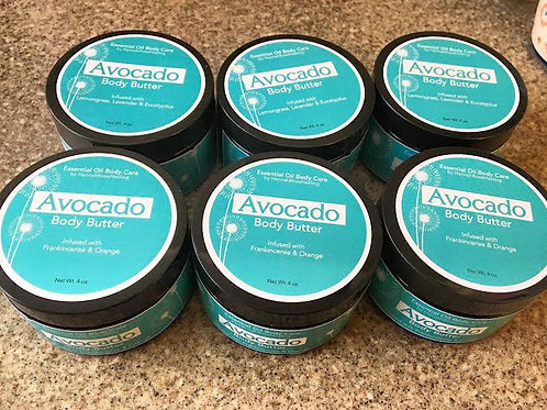 Avocado Body Butter- Frankincense & Orange