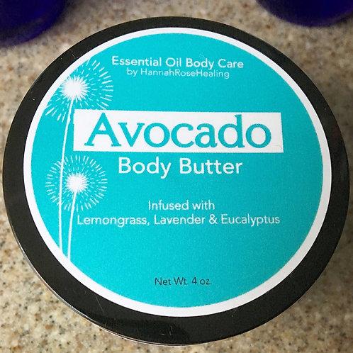 Avocado Body Butter- Lemongrass, Lavender & Eucalyptus