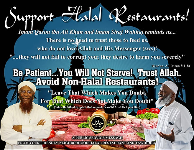 Support Halal Restourants