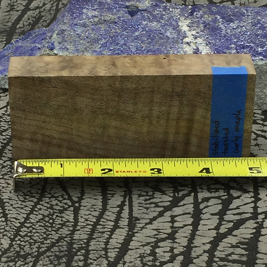 Stabilized Toasted Curly Maple