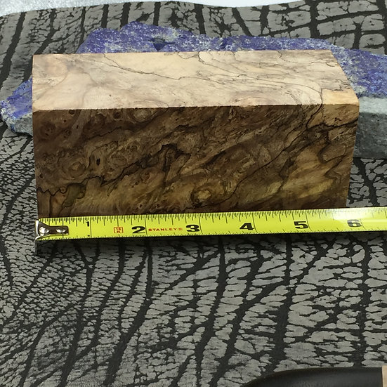 Stabilized Spalted Maple Burl Block