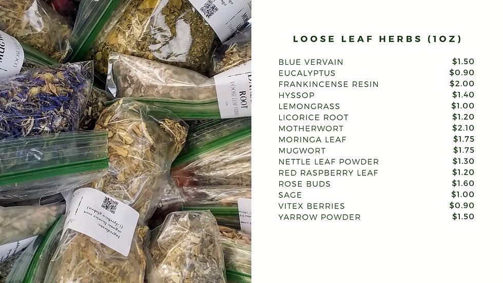 Loose Leaf Herbs (1oz)