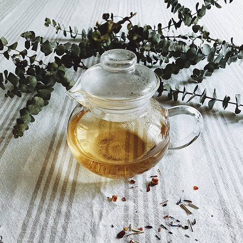 Glass Tea Pot w. {1} Stainless Steel Basket Infuser