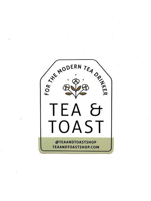 Tea Bag Shaped Sticker in Pistachio