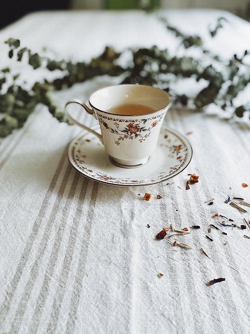 Vintage Floral Tea Cup & Saucer