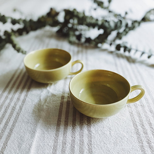 1970's-style Groovy Lime Green Tea Cups {2}