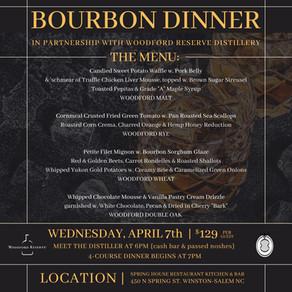 BOURBON DINNER   April 7th, 2021