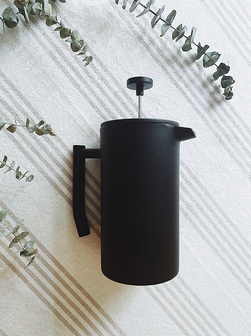 French-style Black Loose Leaf Tea Press Pot