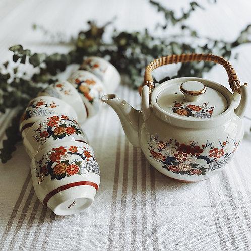 Vintage Japanese Tea Set {1 pot, 6 cups}