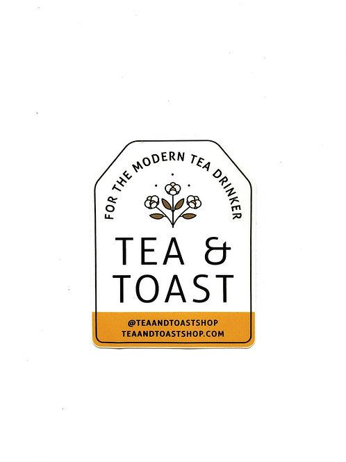 Tea Bag Shaped Sticker in Honey