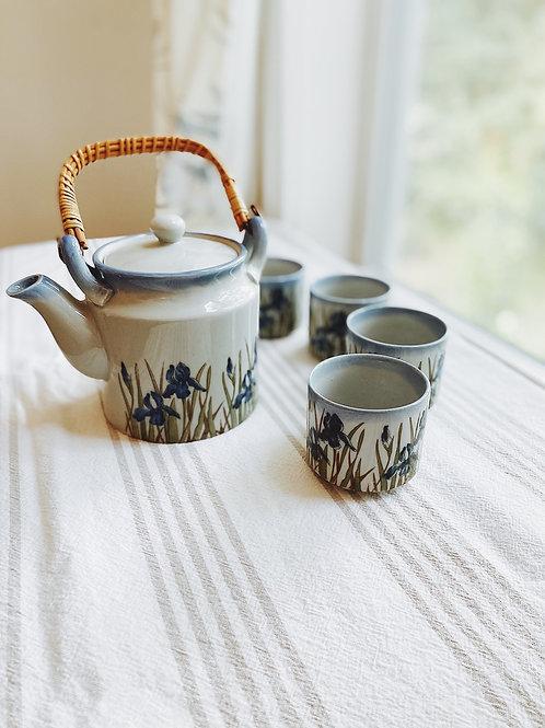Japanese Tea For {4} Vintage Set
