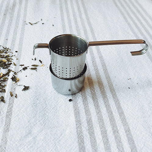 Stainless Steel Infuser Basket w. Saucer