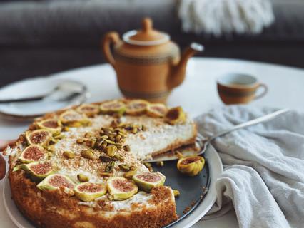 Fig, Pistachio & Honey Chèvre Cheesecake Recipe