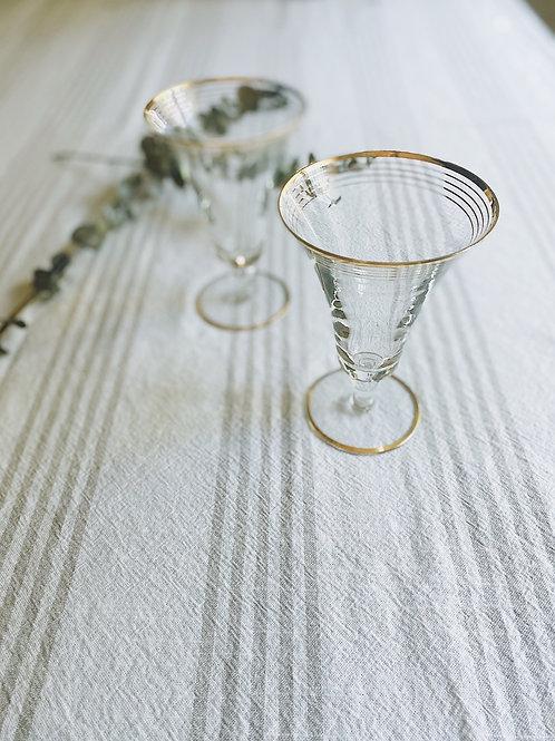Gold-rimmed Cocktail Glasses {2}