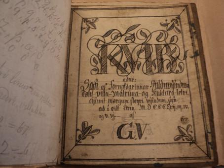 Исландские рукописные книги о тайных литерах и рунах Часть третья