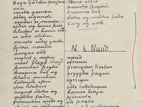 Исландская рукопись о рунах 1938 года