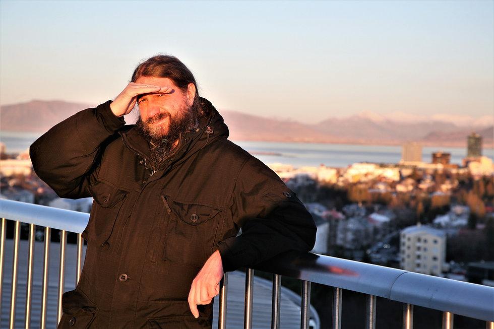Л. Кораблев в Рейкьявике, Исландия, декабрь 2018