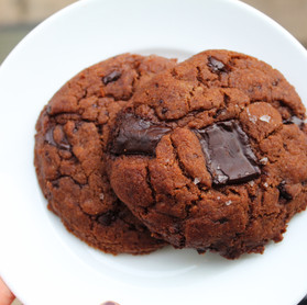 Date syrup, Olive Oil and Dark Chocolate Sea Salt Cookies