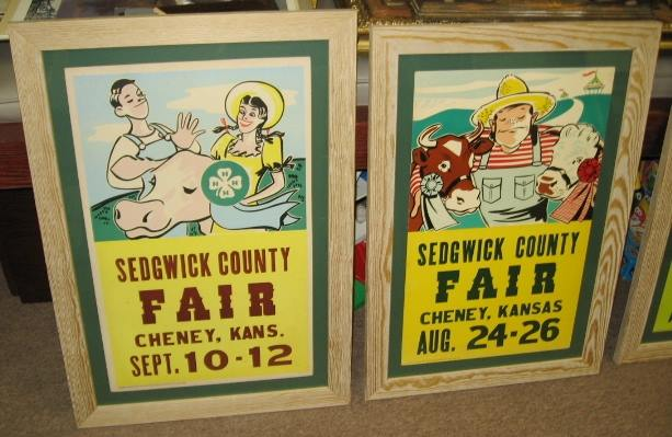 Antique Sedgwick County fair posters