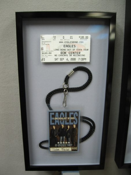 Concert Memorabilia Shadow Box