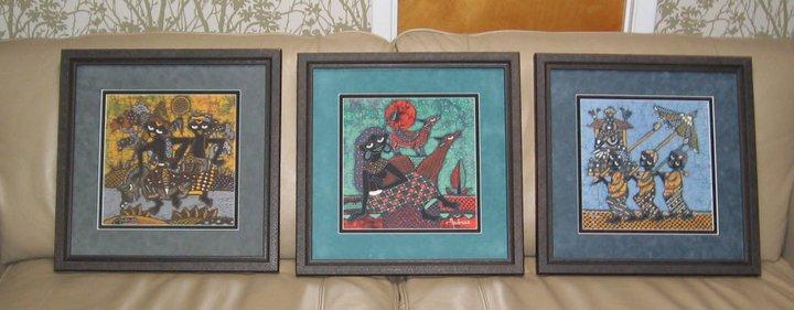 Malaysian batik fabric art