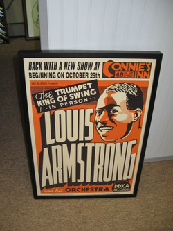 Vintage Louis Armstrong poster