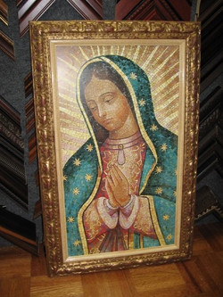 Virgin Mary portrait; print of mosai