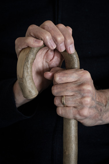 Dad's Hands with Stick
