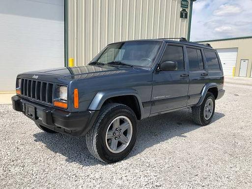 2001 Steel Blue Jeep Cherokee Sport 4x4