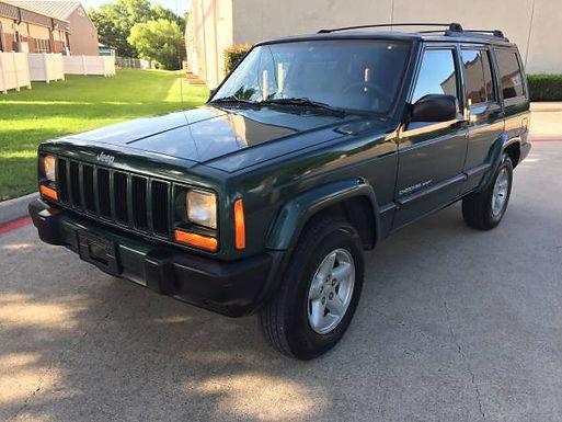 1999 Mean Green Jeep Cherokee XJ Sport