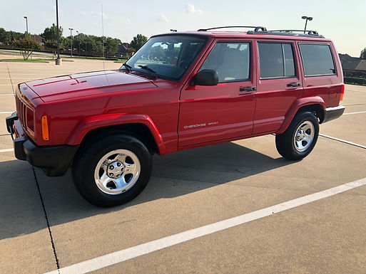 1999 Flame Red Jeep Cherokee XJ Sport