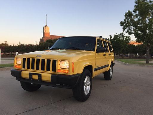 2001 Stunning Solar Yellow Jeep Cherokee XJ