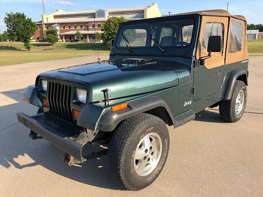1993 Hunter Green Metallic Jeep Wrangler