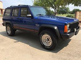 1995 Brilliant Blue Metallic Jeep Cherokee XJ 4x4