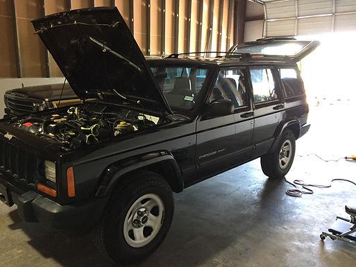 2001 Black Jeep Cherokee XJ Sport