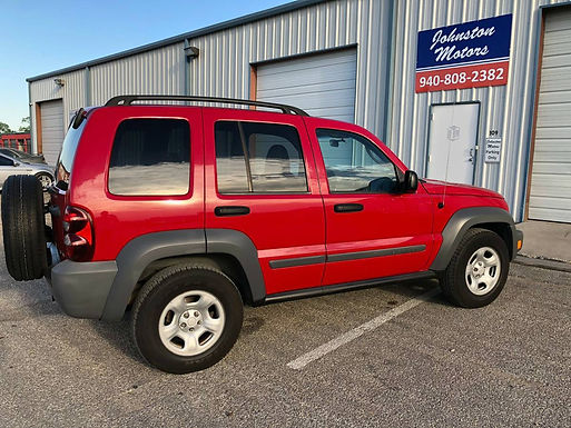 2005 Flame Red Jeep Liberty Sport