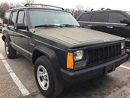 1996 Moss Green Pearl Cherokee XJ