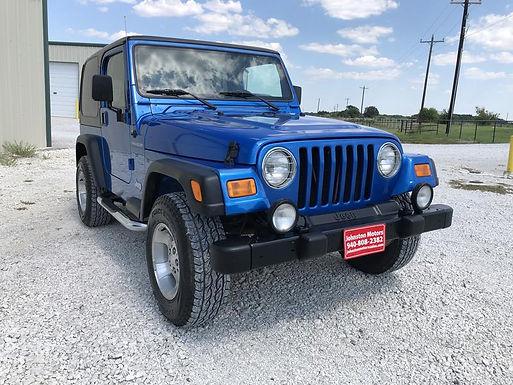 2002 Intense Blue Pearl Jeep TJ Wrangler