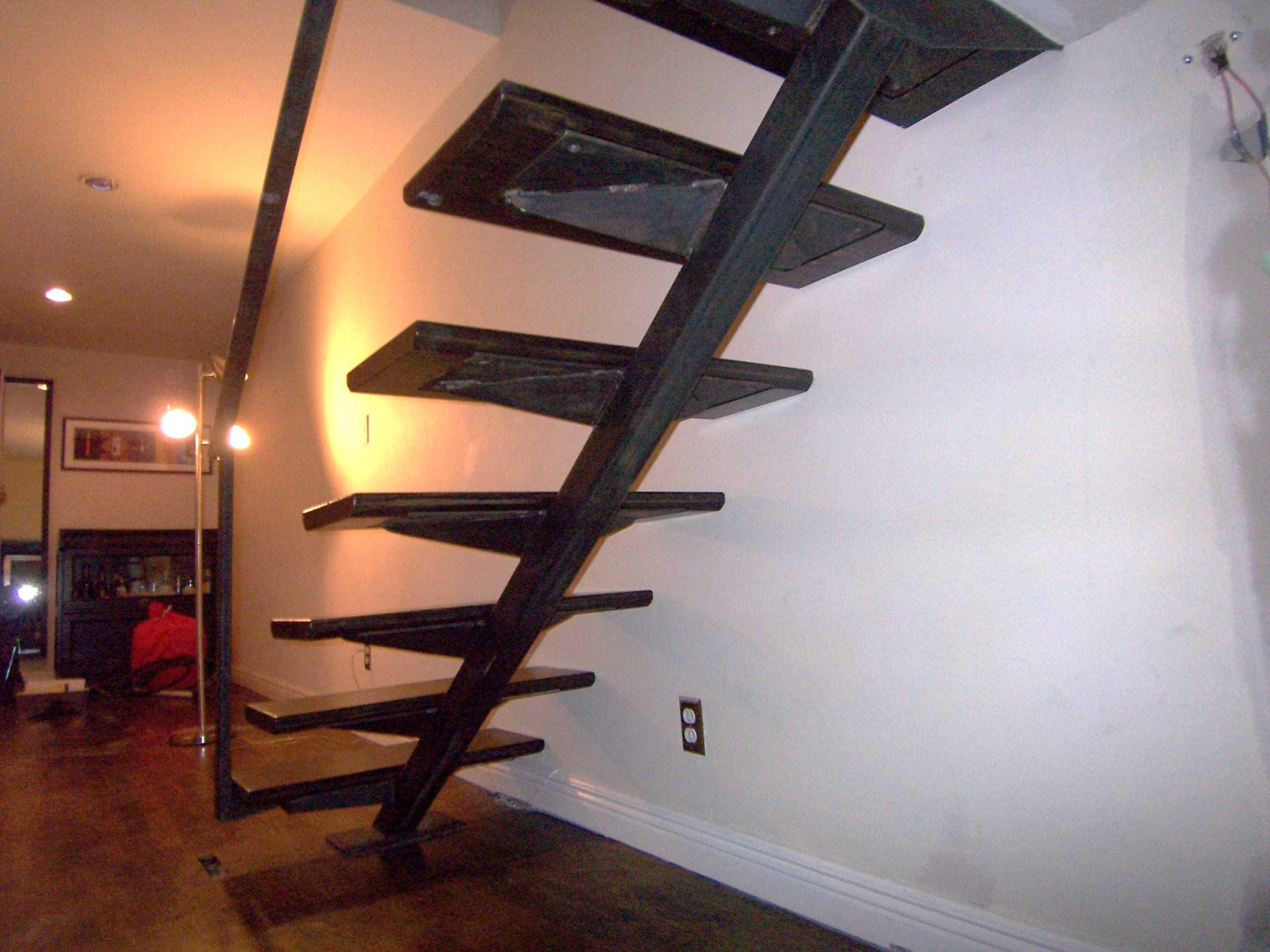 contemporary metal stair