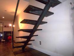 contemporary metal stair