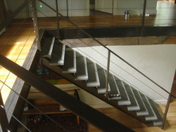 stair with cable railing
