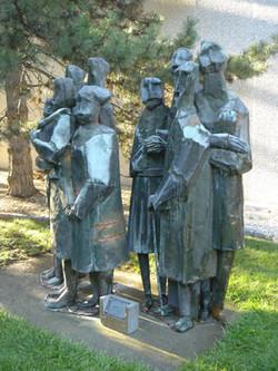 restoration, Duthes Group sculpture