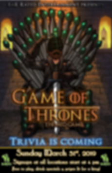 Past Themed Games - Game of Thrones
