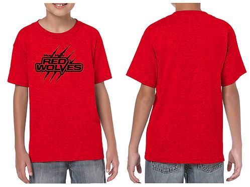 Paw Paw Red Wolves Slash logo T-shirt