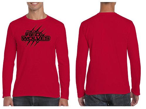 Long Sleeve  Paw Paw Red Wolves Slash  logo T-Shirt
