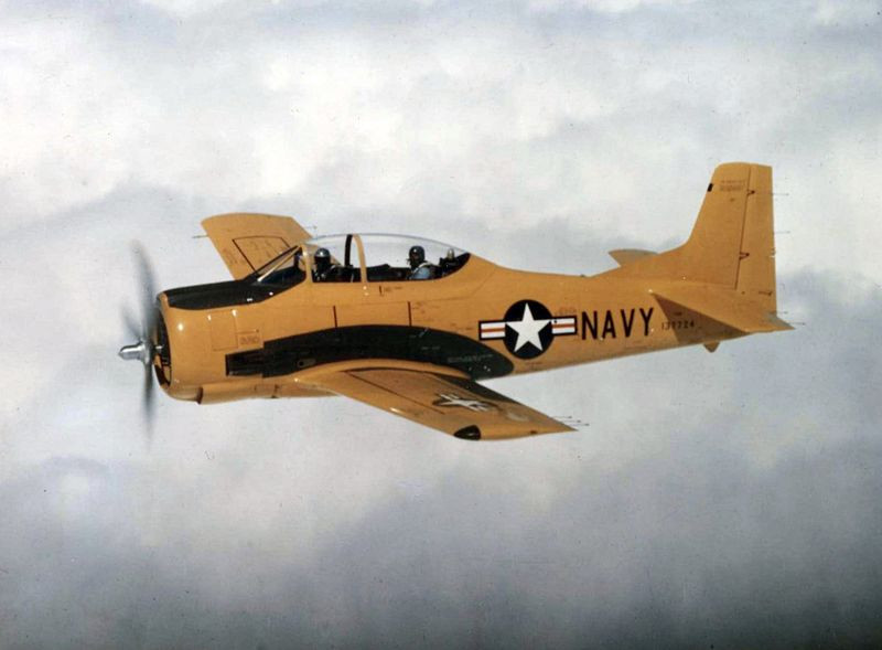 Despite being designed as a trainer, the T-28 was used in various combat scenarios as well.