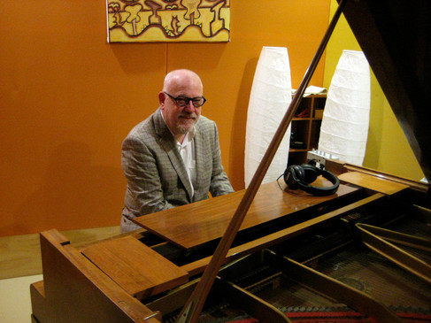 Paul Grabowsky and the Pfeiffer Grand Piano.