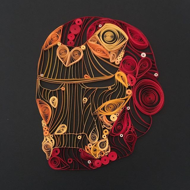 The piece that started my quilling adven