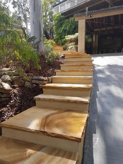 sawn sandstone steps