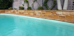 Sandstone hydro split blocks and cap